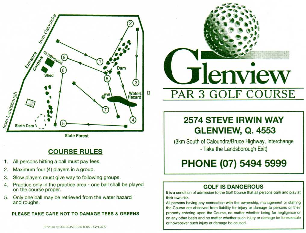 Sunshine Coast Golf Course Glenview Par 3